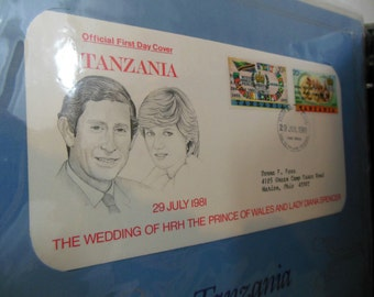 Royal Wedding Stamp Collection  Charles and Diana 1st Day Covers Issued by British Commonwealth Nations and Dependencies