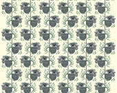 Nurture by Charley Harper for Birch Fabrics - Modern 100% Organic Fabric Gray Koalas