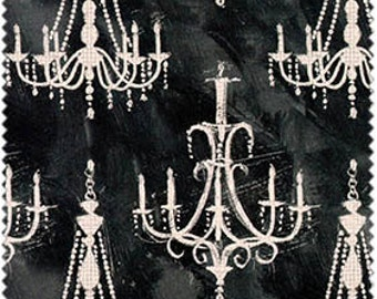 French Couture by Four Seasons - Chandeliers on Black/Gray Background