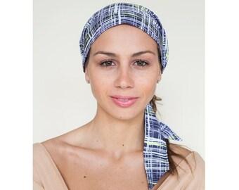 Women's Headscarf, Silk & Cotton, Gray, Hair Coverup, Head Scarves, Turban Head Wrap, Hair Cover headscarves, Head Scarf, Gift for Her