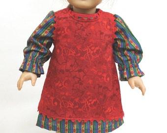 Dress & Musical Smock for American Girl Doll