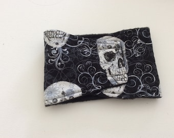 Dog Diaper - Male Dog - Belly Band - Silver Skulls - Available in all Sizes