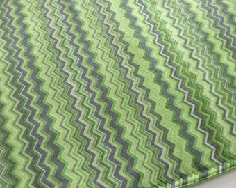 Washable, Waterproof, Reusable Puppy / Potty Pad - 18 x 24 - Green Chevron