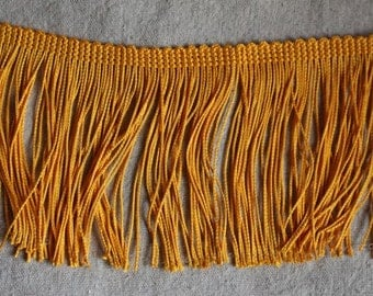 yellow GOLD chainette fringe