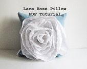 pillow sewing pattern / pdf pattern / girls pillow / blue and white pillow