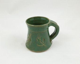 Spring Green Locust Mug Pottery Handmade by Daisy Friesen