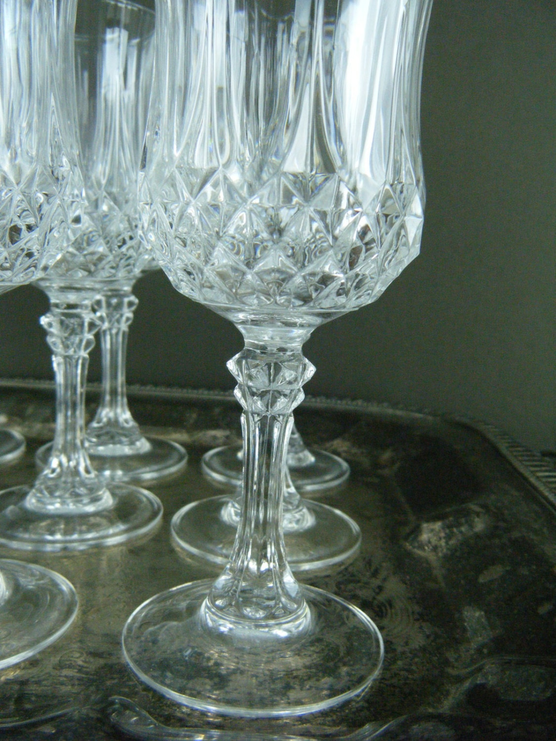 Exquisite Crystal Wine Glasses Thick Leaded Crystal With