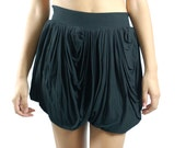 Women's Flutter Skirt in Black- Sizes Small and Large