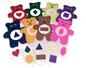 Matching color and shape busy bag, sorting color, preschool busy bag, felt toys, educational toy, toddler busy bag, stocking stuffers kids