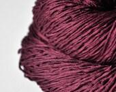 Burgundy ice rose - Silk Fingering Yarn