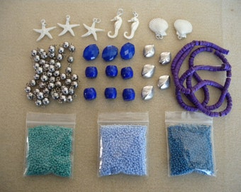 Under the Sea Destash - Beads, Charms, Strands, Etc.