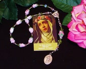 Traditional Chaplet of St. Rose of Lima - Patron Saint of Needle Workers, Florists, Gardeners and  Against Vanity