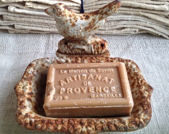 Antique Bird Soap Dish Cast Iron Old Rusty Wonderfully French Home Decor. Rustic Country Home