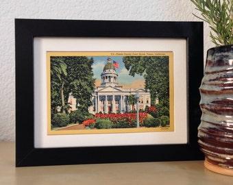 Fresno County Courthouse, Fresno, California - framed vintage postcard