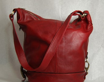 MADE TO ORDER Murphy Travel Bag Red Italian leather