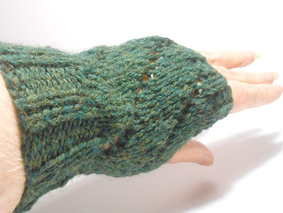 Hand Knitted Fingerless Gloves Fingerless Gloves Fingerless
