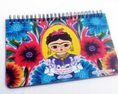 Planner illustration of Frida Kahlo