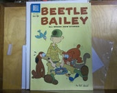 Beetle Bailey comic, Dell comics, vintage comics, golden age comics