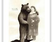 Bear And Granny - A3 print