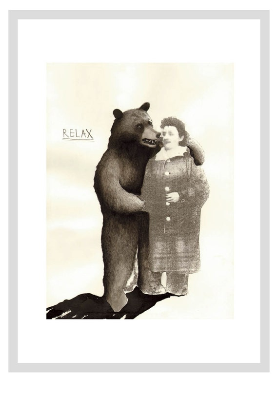 Bear And Granny - A3 print