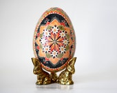 Starburst design,Pysanka Ukrainian Easter,decorated goose egg shell,wonderful retirement gift,Easter weekend celebration,traditional eggs