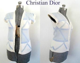 Christian Dior Sweater Vest / Vintage Designer Casual Career