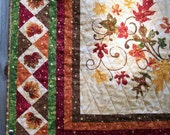 Fall Table Runner Wall Hanging A New Leaf Autumn Handmade Quilted