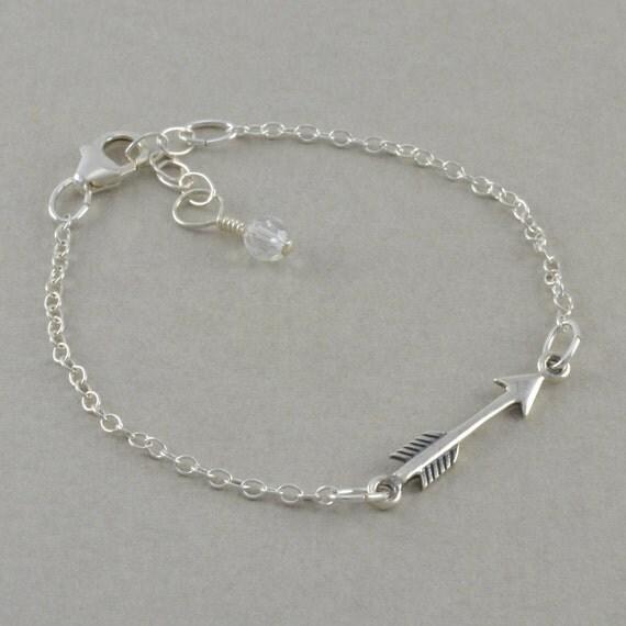 arrow bracelet childrens sterling silver by