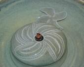 "Pet Fountain, Cat Fountain Food safe, Ceramic - 10.25 Inch Diameter - ""Twirl"""