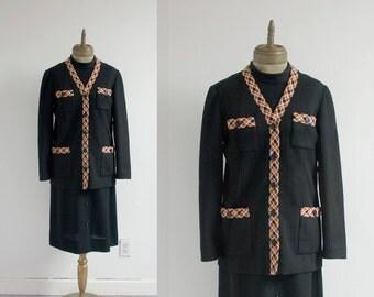 Supremely Stunning Vintage Mod Dress Suit XL / XXL / Plus Size