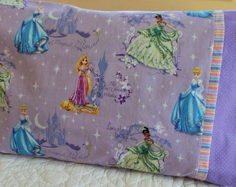 Disney Princesses Childrens or Travel  Pillow Case