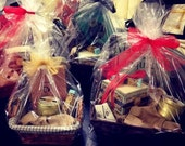 Read & write by candle light gift basket