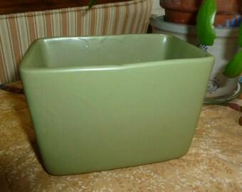 1930's green pottery planter USA rectangular