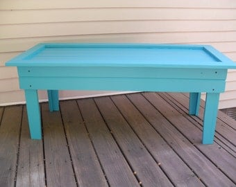 Robin Egg Blue Coffee Table