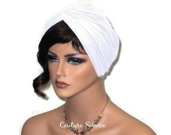 Ivory Turban, Women's Ivory Turban , Ivory Fashion Turban, Lined Ivory Turban , Ivory Twist Turban, Ivory Turban Hat, White Knit Turban