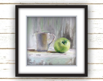 Apple with Cup - Painting Print