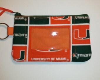 University of Miami Zip ID pouch