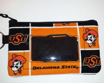 Oklahoma State University Zip ID pouch
