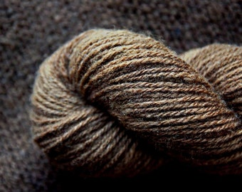 WALNUT 1 - Hand spun/Hand dyed Wool Yarn