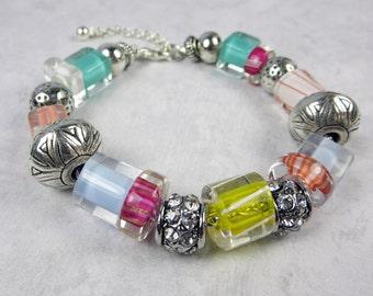 Pastel Bracelet - Colorful Bracelet - Beaded Bracelet - Spring Bracelet - Summer Bracelet