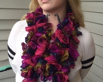 Autumn Forest Ruffle Infinity Scarf