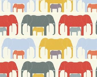 Organic FLANNEL Fabric - Birch Charley Harper Nurture Flannel - Jumbrella Flannel