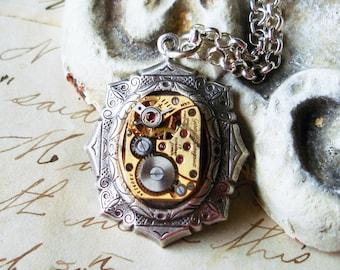 Vintage Watch Movement Necklace C 9-4