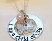 Child of God Necklace, I Am a Child of God, LDS Baptism Gift Idea, Baptism Necklace, I Belong baptism gift