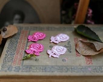 12pcs of little rose lacw flower