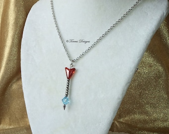 Legend of Zelda Ice Arrow Pendant Necklace Custom made with Swarovski Crystals by TorresDesigns OOAK One of a kind Ready To Ship