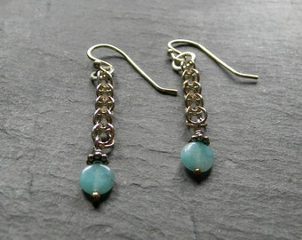 Sterling Silver Earrings with Appetite bead dangles