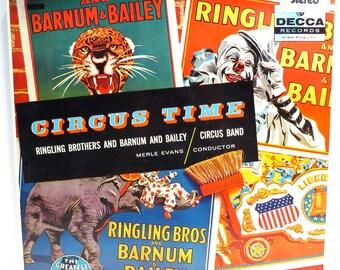 Circus Time Album Cover Purse Ringling Brothers Custom Made Vintage LP  Record Album Handbag Tote