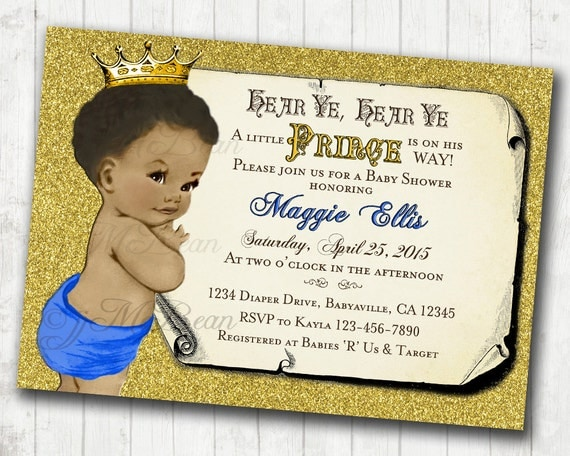 Prince baby shower invitation african american baby shower il570xn filmwisefo