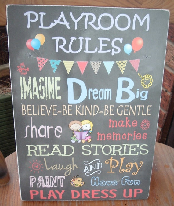 shabby chic playroom sign plaque nursery childrens play